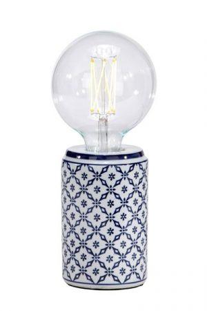Bordslampa Porslin Zhang Li Blå