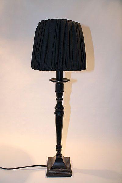 Bordslampa antiksvart svart Salong Freja Svart 20