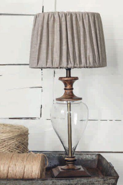 Välkända Bordslampa fönsterlampa glas trä 44 cm | Swelamp UZ-53