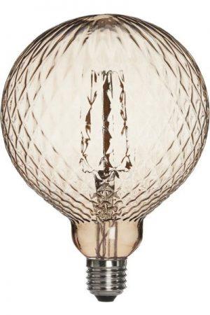 Elegance LED Globe Cristal 125mm Brun