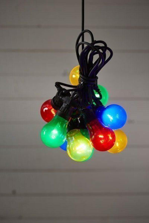 Välkända Ljusslinga Circus Party med 10 st LED lampor för utomhusbruk. UH-74