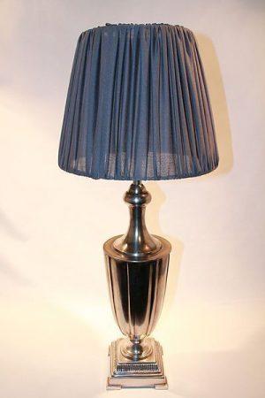 Lampa bordslampa metall grå Amanda