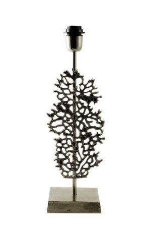 Lampfot Elana Antiksilver