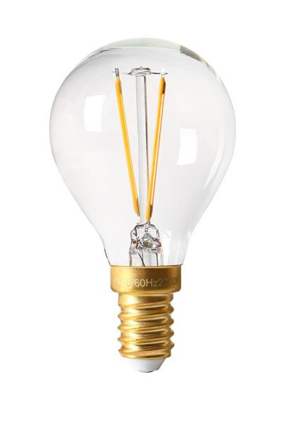 vintage led filament e14 bulb 2w clear swelamp. Black Bedroom Furniture Sets. Home Design Ideas