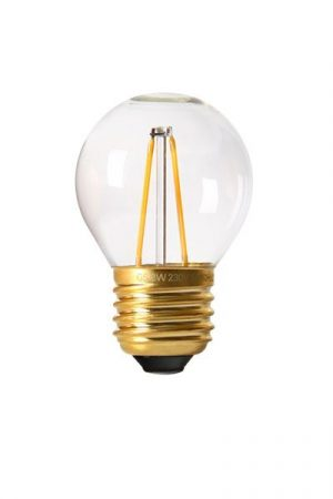 Vintage LED Filament E27 Bulb, 2W clear