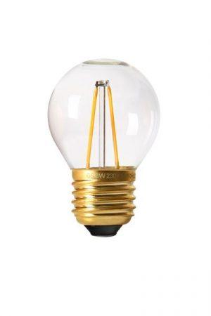 Vintage LED Filament E27 Bulb, 2W clear