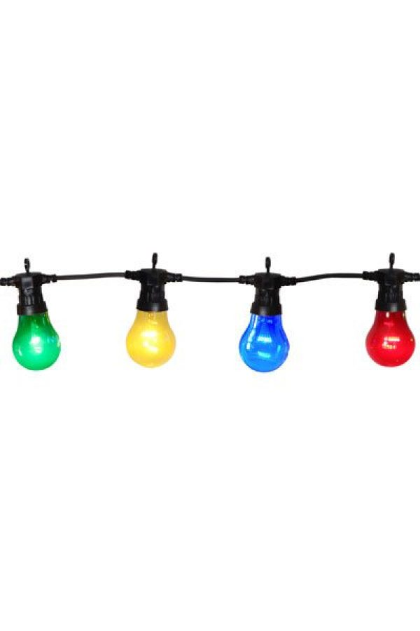 Omtalade Ljusslinga Circus Party med 10 st LED lampor för utomhusbruk. FP-68