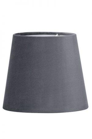 Lampskärm Sammet Grå Mia 17 cm