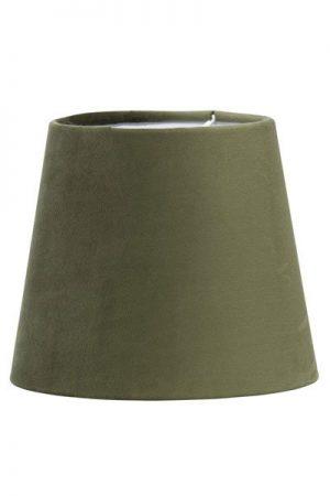 Lampskärm Sammet Grön Mia 17 cm