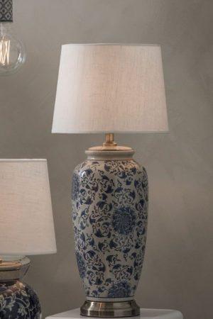 Lampa Porslin Vit/Blå Li