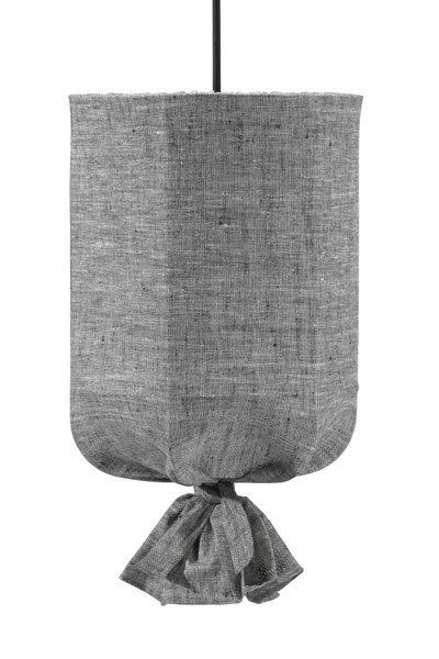 Taklampa Utomhus Round Svart/Grå 40 cm