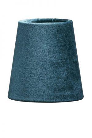 Lampskärm Sammet Turkos Queen 12 cm