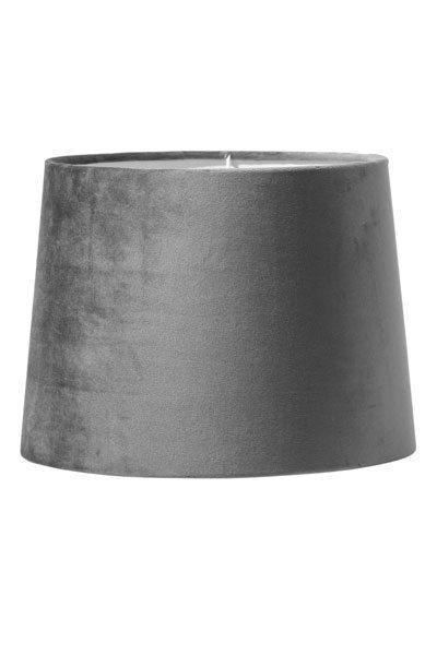 Lampskärm Sammet Grå Sofia 20 cm