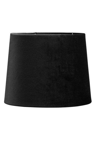 Lampskärm Sammet Svart Sofia 20 cm