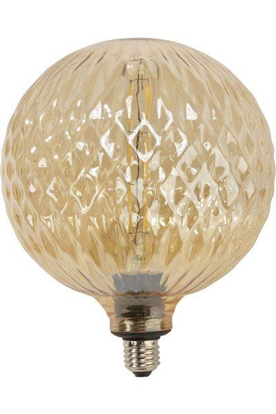 Stor glödlampa 200 mm kristall guldfärgat glas Stor guldfärgad lampa kristall