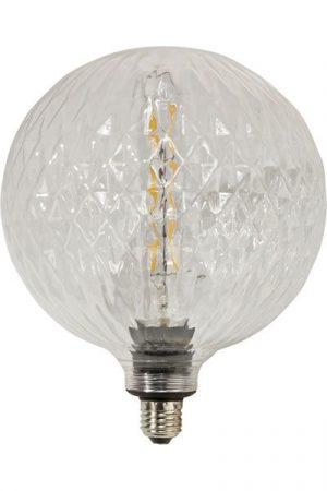 Stor glödlampa 200 mm kristall klart glas