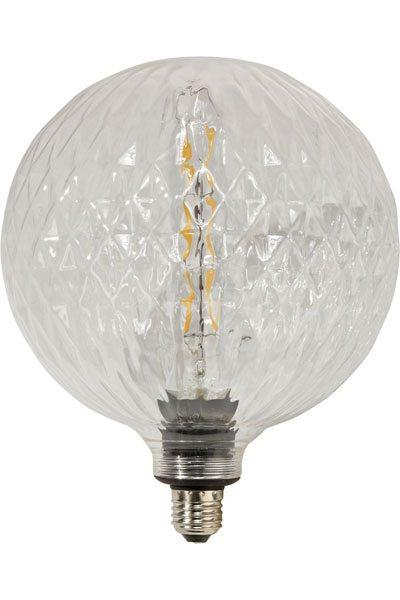 Stor glödlampa 200 mm kristall klart glas Klar kristall lampa med vackert sken