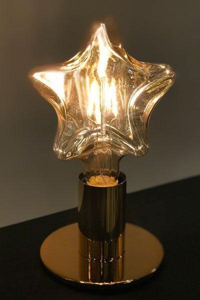 Bordslampa POPP Guld/STAR Ljuskälla Swelamp