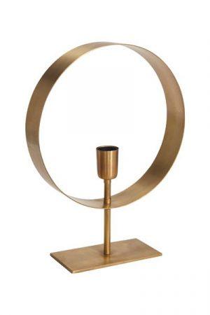 Bordslampa Atmosphere Guld.Lampfot Atmosphere i guldfärg med en lamphållare. Lampan har 2 meter lång svart textil sladd