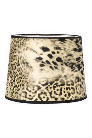 Lampskärm Sammet Sofia Leopard. Leopardmönstrad lampskärm i sammet, skärmen finns i flera storlekar och levereras med ringfäste.
