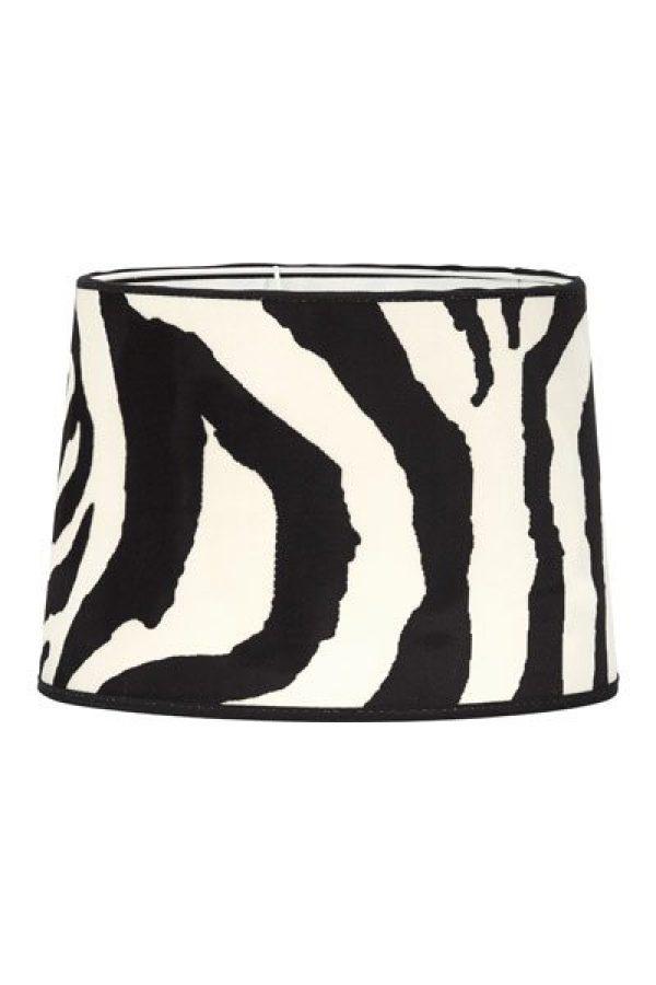 Lampskärm Sammet Sofia Zebra