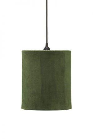 Taklampa Cylinder Sammet Grön 24 cm