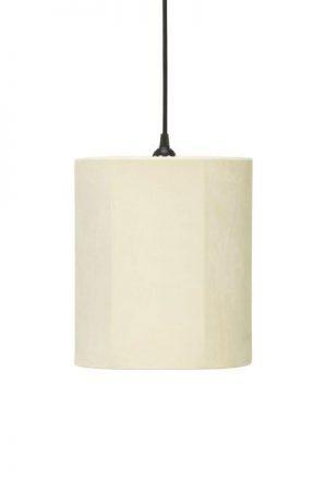 Taklampa Cylinder Sammet Offwhite 24 cm. Cylinderformad taklampa i offwhite sammet, levereras med 1,2 meter svart sladd med takkontakt. E27 sockel. Finns i flera färger och storlekar.