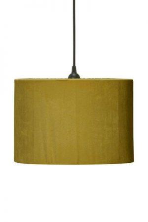Taklampa Cylinder Sammet Senap 32 cm. Cylinderformad taklampa senapsfärgad sammet, levereras med 1,2 meter svart sladd med takkontakt. E27 sockel. Finns i flera färger och storlekar.