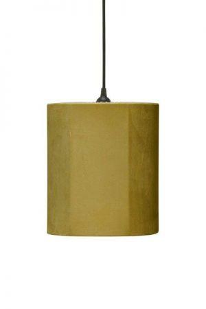 Taklampa Cylinder Sammet Senap 24 cm