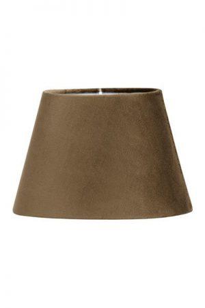 Lampskärm Sammet Brun Oval
