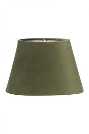 Lampskärm Sammet Grön Oval