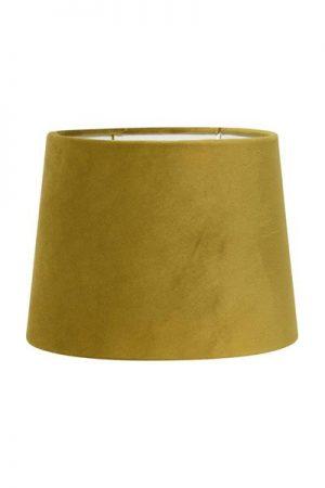 Lampskärm Sammet Senap Sofia. Senapsfärgad sammetskärm. Levereras med ringfäste. Skärm Sofia finns i flera storlekar och färger.