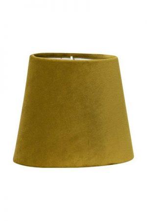Lampskärm Sammet Senap Mia. Lampskärm i senapsfärgad sammet som finns i flera storlekar. Levereras med klofäste i storlek 17 och 20 cm. Storlek 24 cm levereras med ringfäste.
