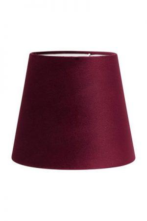 Lampskärm Sammet Vinröd Mia. Lampskärm i vinröd sammet som finns i flera storlekar. Levereras med klofäste i storlek 17 och 20 cm. Storlek 24 cm levereras med ringfäste.