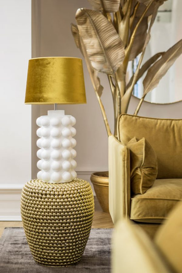 Lampa Bubbels White Matt Skärm Roma Guld Inspiration