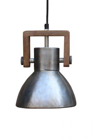 Ashby single silver taklampa i silver med trädetalj
