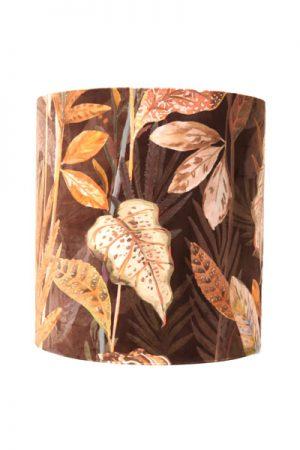 Lampskärm Celyn Pandora Rost. Cylinderformad lampskärm i mönstrat tyg. Skärmen levereras med ringfäste. Skärmen finns i två storlekar.
