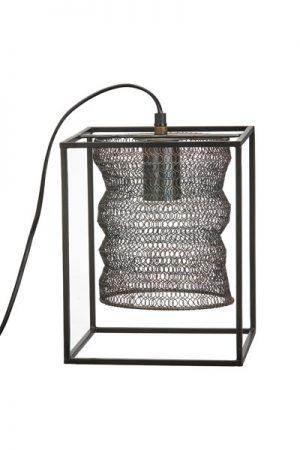 Bordslampa Cuba. Bordslampa Cuba i metallnät med industriell känsla. Lampan har 70 cm lång textilsladd med takkopp.