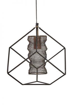 Taklampa Cuba. Taklampa Cuba i metallnät med industriell känsla. Lampan har 70 cm lång textilsladd med takkopp.
