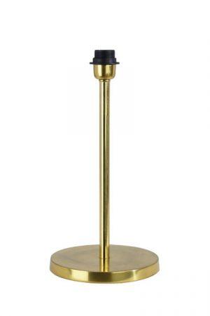 Lampfot Celina Guld. Enkel och stilren lampfot i guldfärgad metall, den har en snygg design med sin breda fot. Sockel E27. Välj till skärm som passar ditt hem. Skärm ingår ej. Lampfoten finns i fyra olika färger.