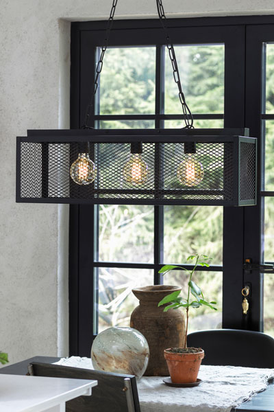 Taklampa Grid 3-lamphållare