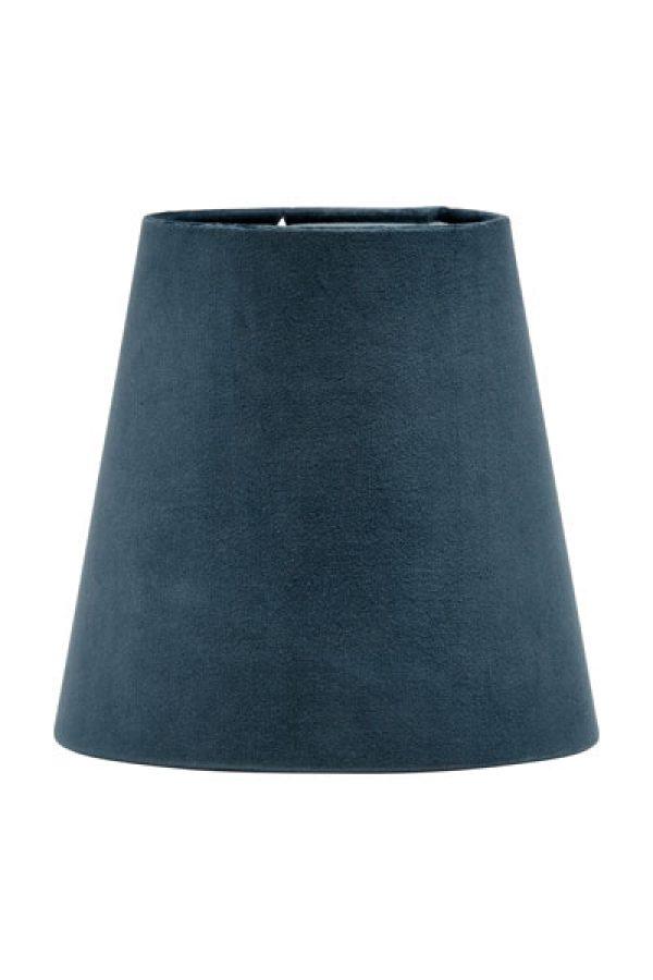 Lampskärm Sammet Blå Queen. Lampskärm i vacker blå sammet som levereras med klotfäste. Skärmen finns i två storlekar och flera färger.