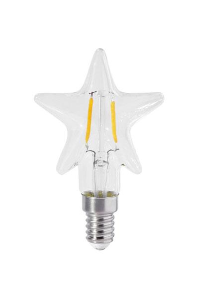 STAR LED Filament Clear 60 mm. Stjärnformad LED lampa i klarglas som ger ett vackertsken. Dimbar, 2000 lystimmar, 150lm, 2W, A+. Sockel E27.
