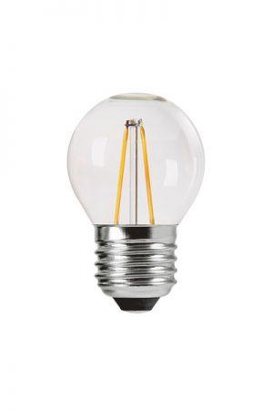 Shine LED Filament, E27, 25W. LED lampa som är 4,5 cm bred och har 25W. Lampan är dimbar. Sockel E27. 22000 lystimmar, 250lm, 2,5W, 2700K, Ra80, A++.