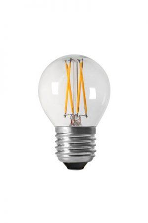 Shine LED Filament, E27, 40W. LED lampa som är 4,5 cm bred och har 40W. Lampan är dimbar. Sockel E27. 25000 lystimmar, 470lm, 3,5W, 2700K, Ra80, A++.