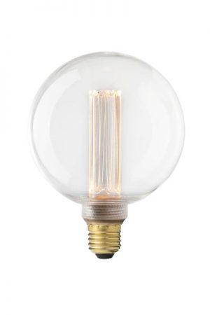 Future LED125 mm, 3,5W E27. Future LED är en ny serie ljuskällor. Med diod och plexipglastub fås känslan av den traditionella glödtråden och ger ett fint varmt sken. Lampan är dimbar och 125 mm bred. Sockel E27. 25000 lystimmar, 120lm, 3,5W, 2000K, A.
