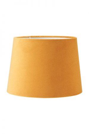 Lampskärm Sofia Sammet Studio Gul. En härlig lampskärm i serien studio som har en sammet i präglad struktur som ger en extra lyxig känsla. Skärmen finns i flera olika färger och storlekar. Lampskärmen har en ljus insida som ger ett behagligt sken och är lätt att matcha med olika lampfötter. Lampskärmen har ett E27 ringfäste.