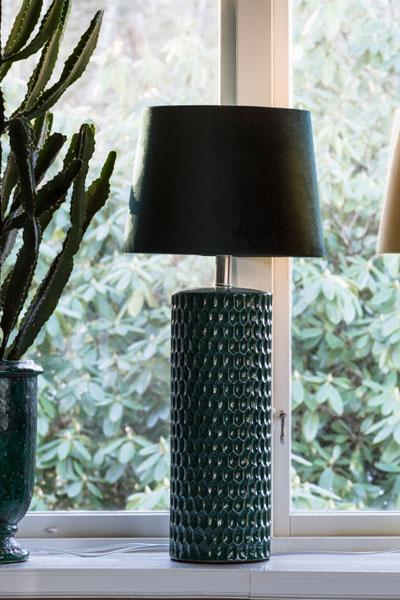 Bordslampa Honeycomb Grön Skärm Sofia Smaragd