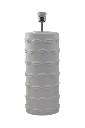 Bordslampa Ego Vit. Lampfot i vit keramik från Hallbergs. Sockel E27.