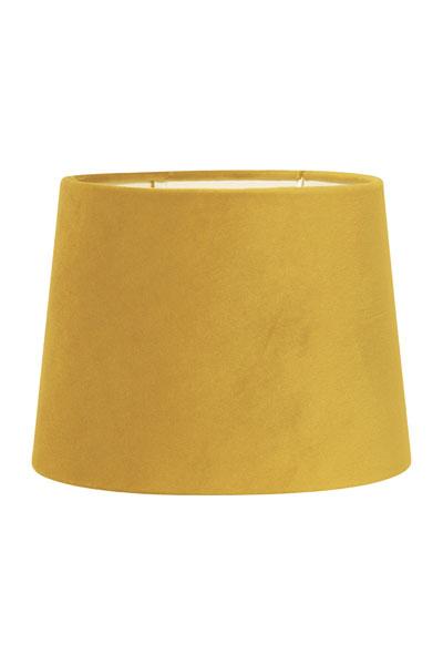 Lampskärm Sofia Sammet Citrongul. En härlig citrongul lampskärm i fin sammet. Skärmen finns i flera olika färger och storlekar. Lampskärmen har en ljus insida som ger ett behagligt sken och är lätt att matcha med olika lampfötter. Lampskärmen har ett E27 ringfäste.